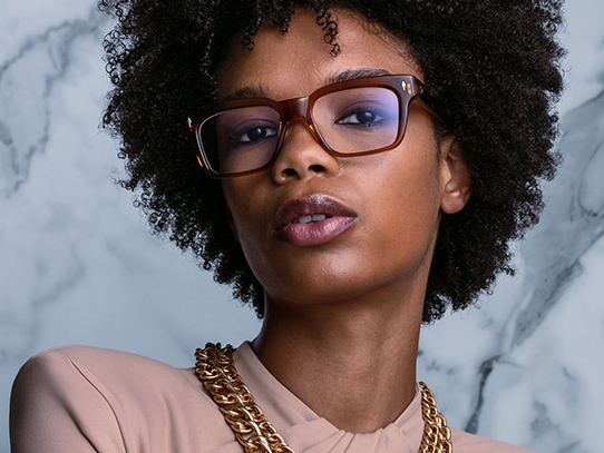 Black woman wearing eyeglasses