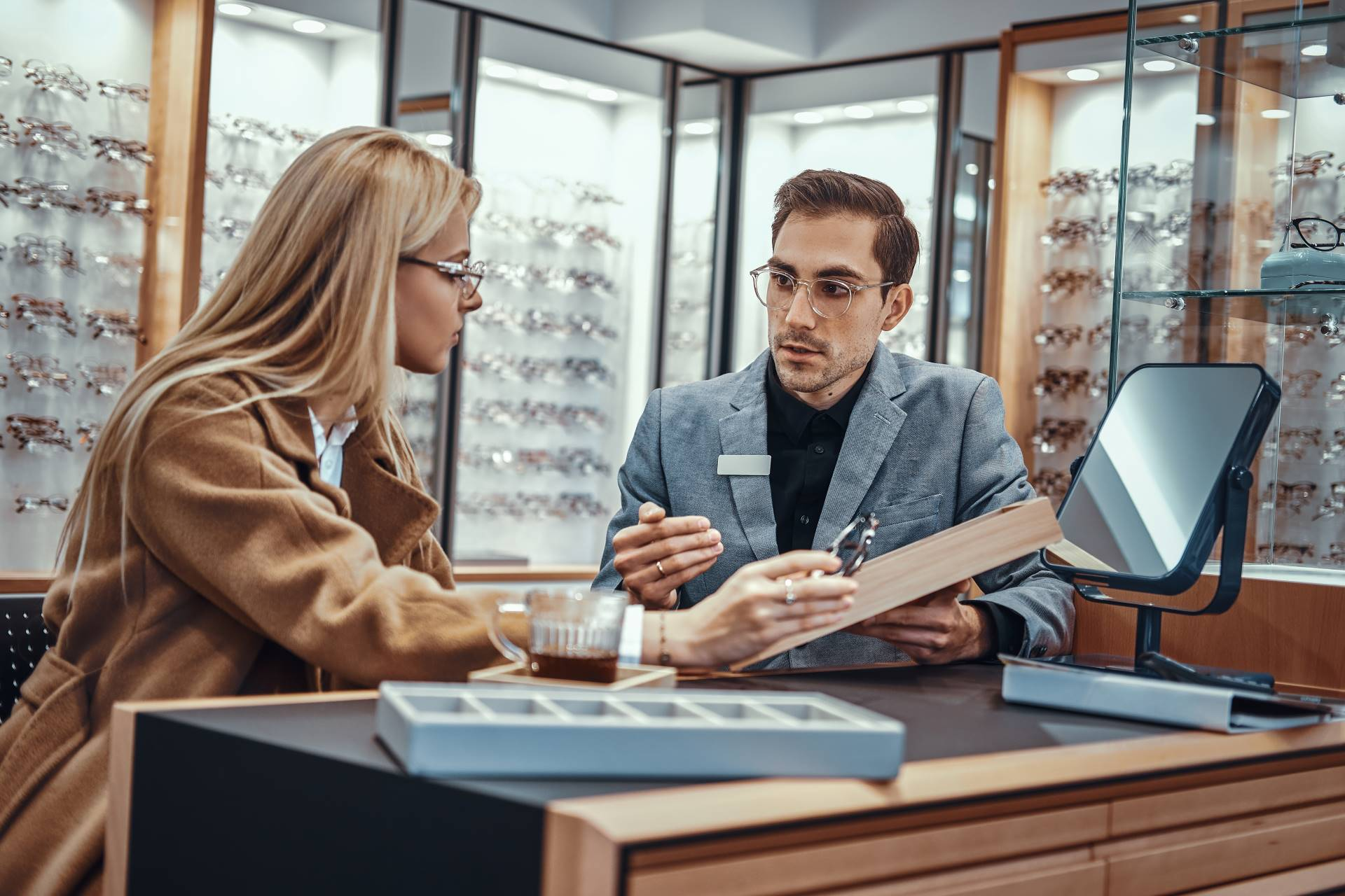 Woman at Glasses Consult
